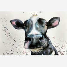 Daisy the Cow in Watercolour