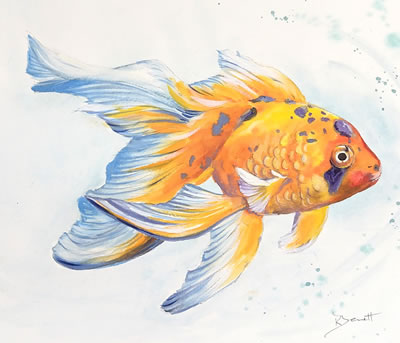 Metallic Goldfish image